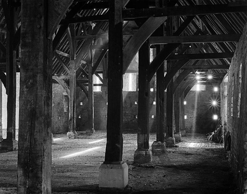 1382 - Inside Bredon Tithe Barn 2 - Barns & Buildings