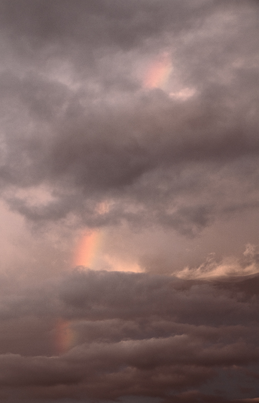 Sunset Rainbow Between Cloud Layers - Clouds & Skies