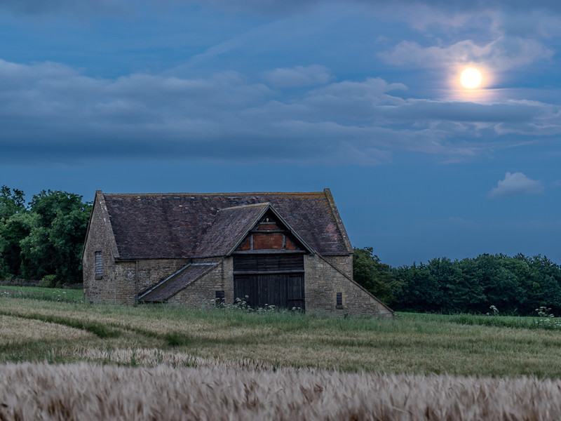 Day 29 - Full Moon on Summer Solstice - On Bredon Hill - 2016