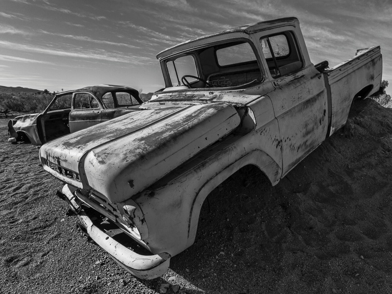 Car Wrecks at Solitaire - Namibia - 2014
