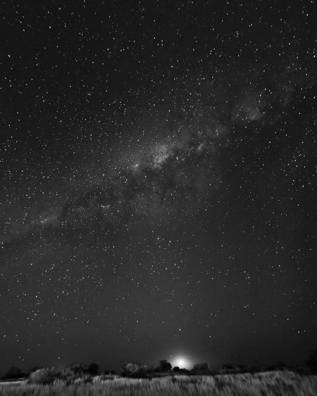 Kalahari Moonset - Namibia - 2014