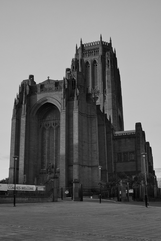 LIVERPOOL ANGLICAN CATHEDRAL BLACK AND WHITE - Black & White