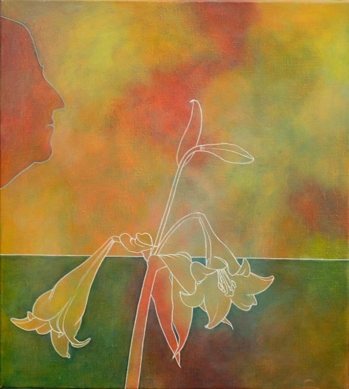My Profile Oil 18in x 20in - Flower Paintings