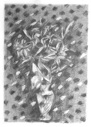 Image with Noise 20in x 30 in - Flower Drawings