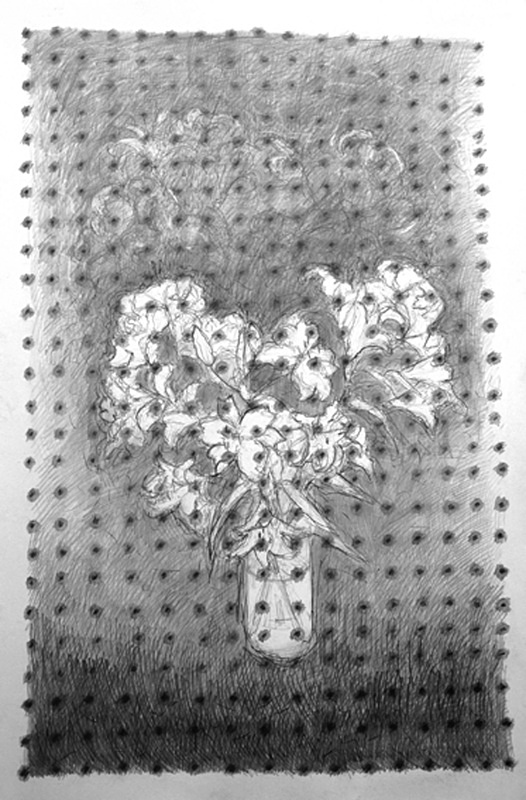 Approximate Grid 36in x 60in - Flower Drawings