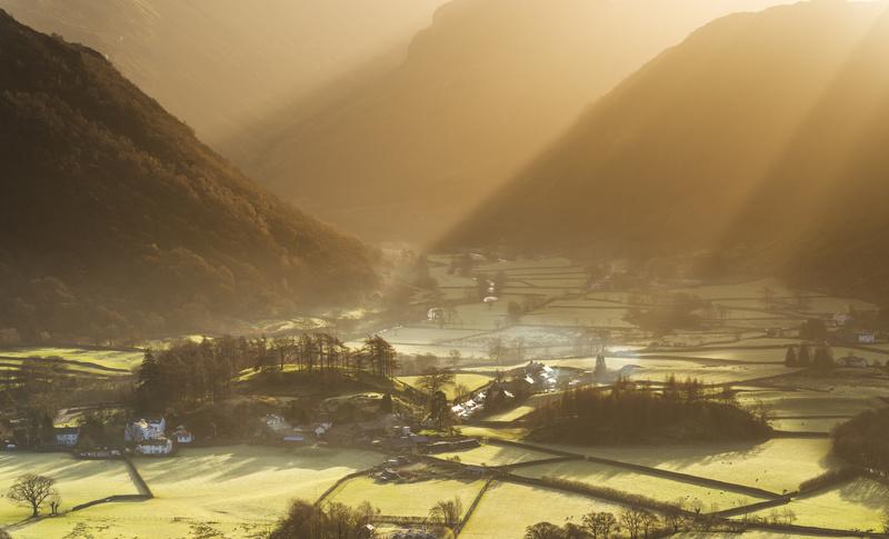 Rosthwaite sunrise, Cumbria - Lake District & Cumbria