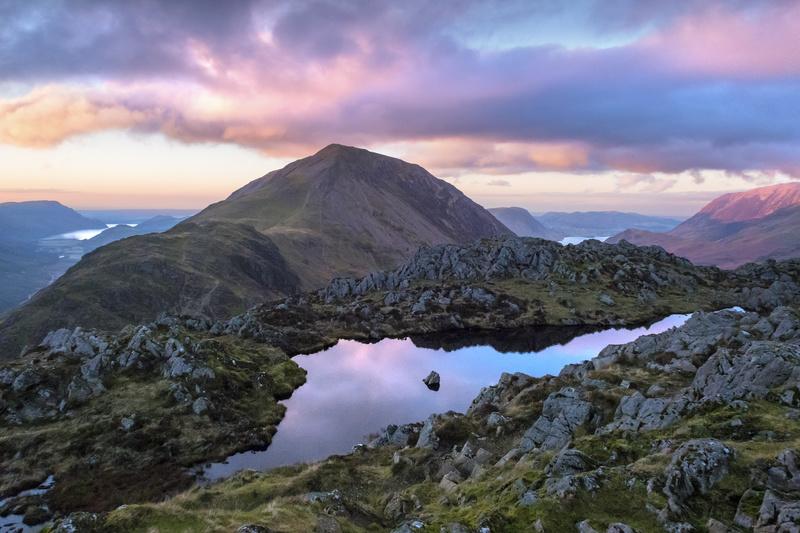 Haystacks sunset. Lake District. - Lake District & Cumbria