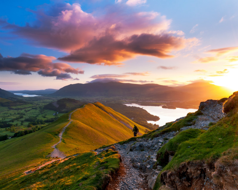 Catbells sunrise, Cumbria, England. - Landscape Photographer of the Year awards, 2011, 2012, 2013, 2014, 2015, 2016...