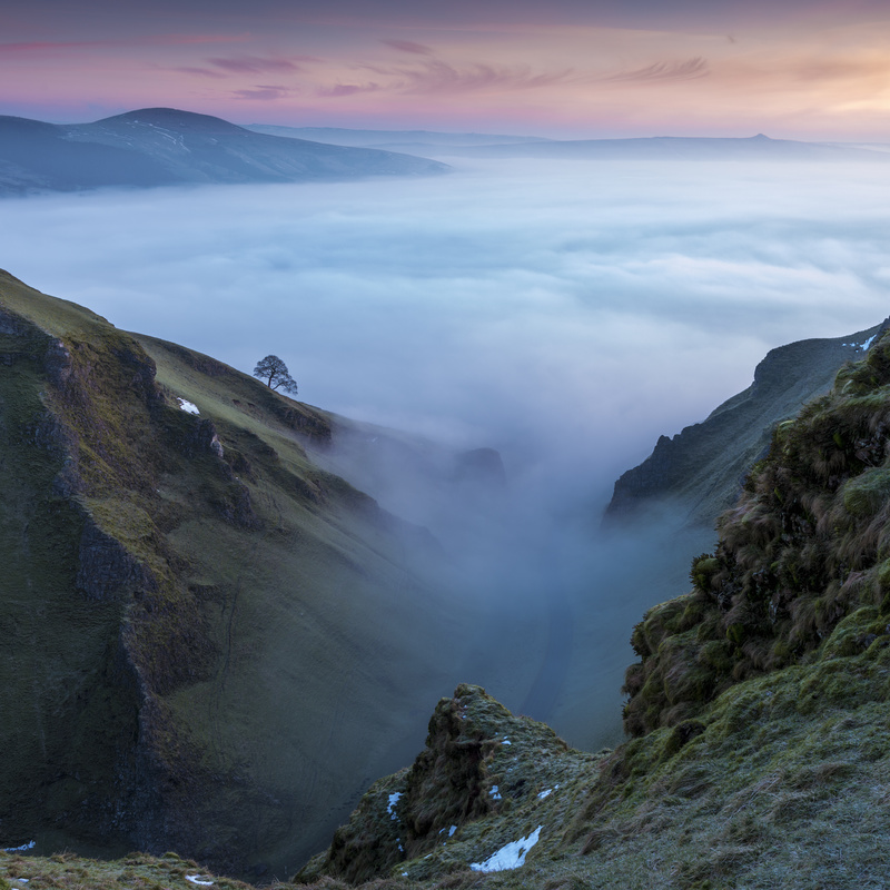 February dawn Winnats Pass, Peak District - Peak District & surrounding area