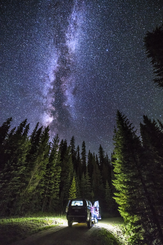 Milkyway over Mt Evans, Colorado. - Astrophotography