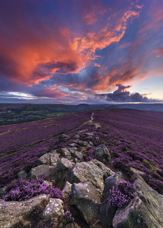 Winhill purple dusk - Peak District & surrounding area