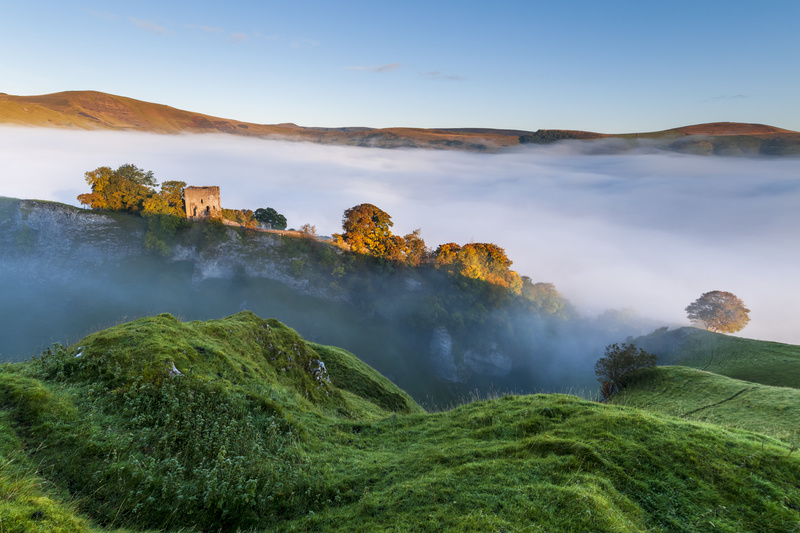 Peveril Castle sunrise - Castles and Fortresses