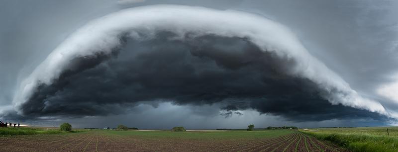 Minnesota shelf cloud. - Weather photography