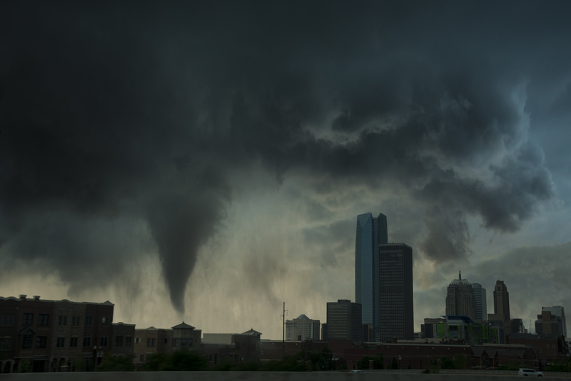 Tornado over Oklahoma city. - Awarded and Published