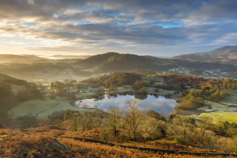 Loughrigg Tarn light - Lake District & Cumbria