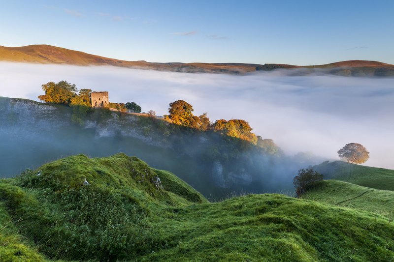 Peveril Castle sunrise - Peak District & surrounding area
