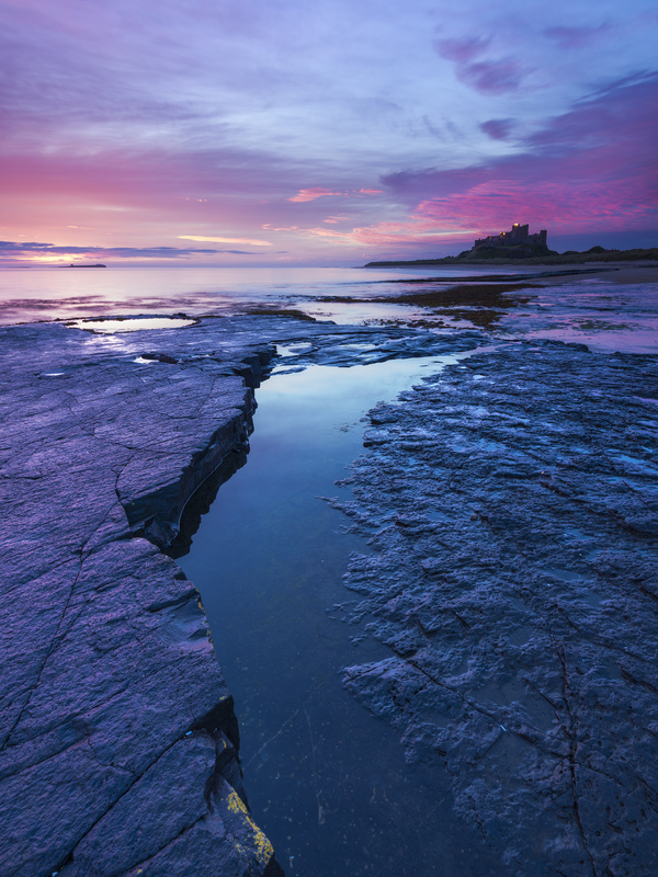 Rocks and a Castle - Northumberland