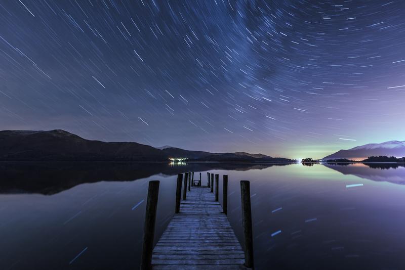 Derwent Water Aurora Star Trails - Astrophotography