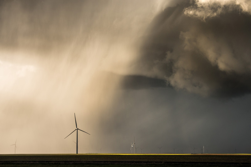 Hail Shaft - Storm photography