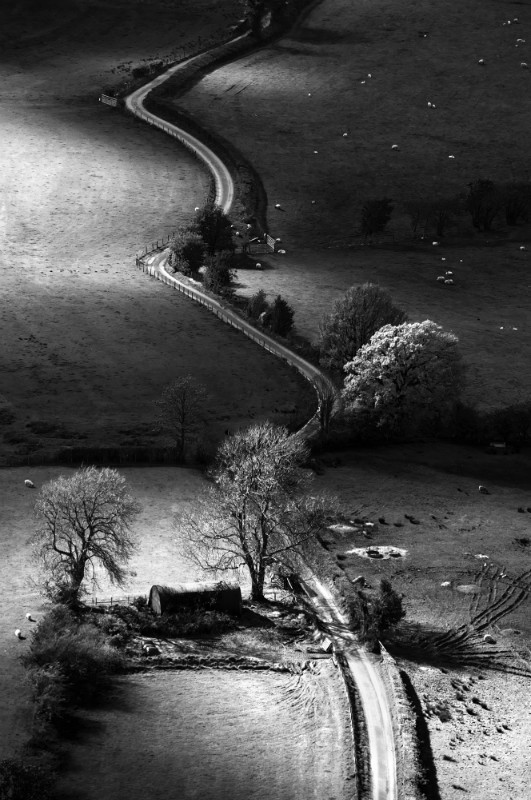 Newlands valley, Lake District - Black-and-white
