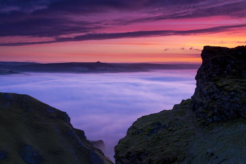 Winnats winter dawn, Peak District. - Peak District & surrounding area