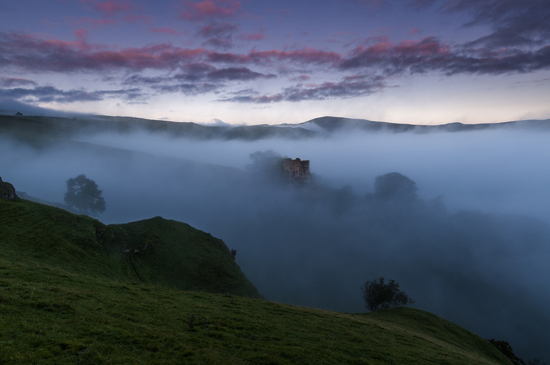 Peveril Castle.  Peak District National park. - Castles and Fortresses