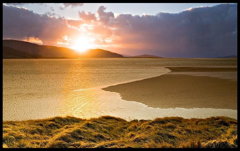 Last light on Luskentyre - Isle of Harris - The Islands of Scotland