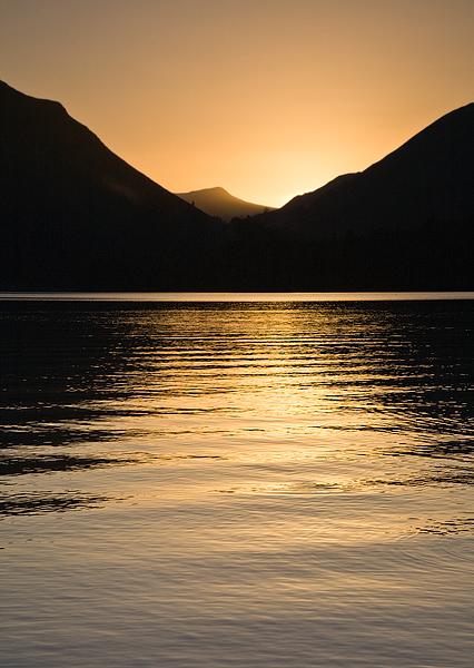 Sundown on Derwent Water - Inland and Coastal England
