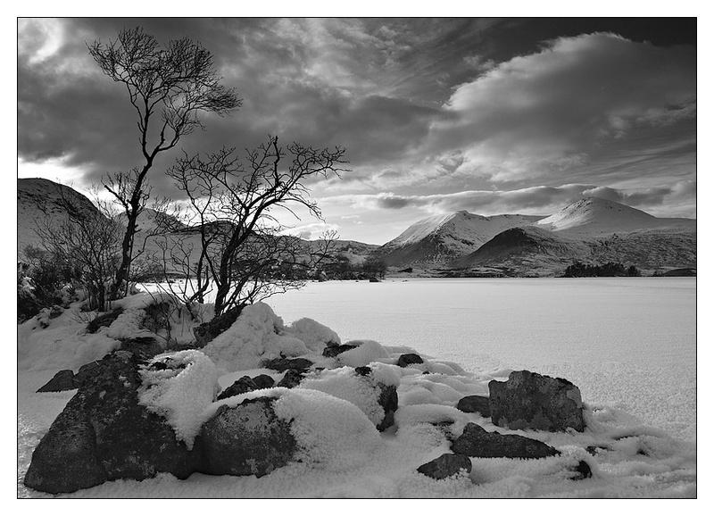 Lochan Na-Achlaise - Monochrome Images