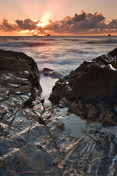 Constantine Bay - Sunset - Inland and Coastal England