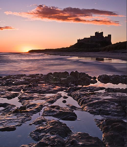 Bamburgh on the rock - Inland and Coastal England