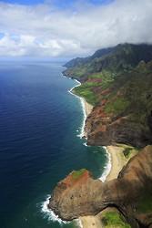 Napali Coastline from air, Kauai
