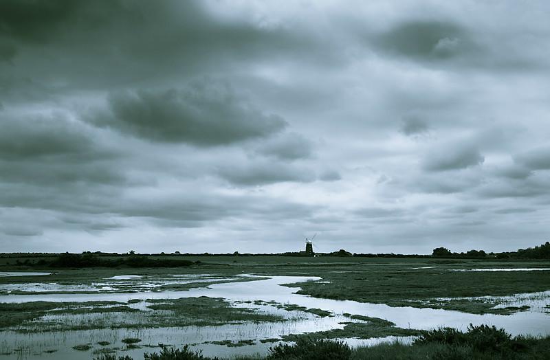 Tower Mill from Norton Marsh. - Burnham Overy