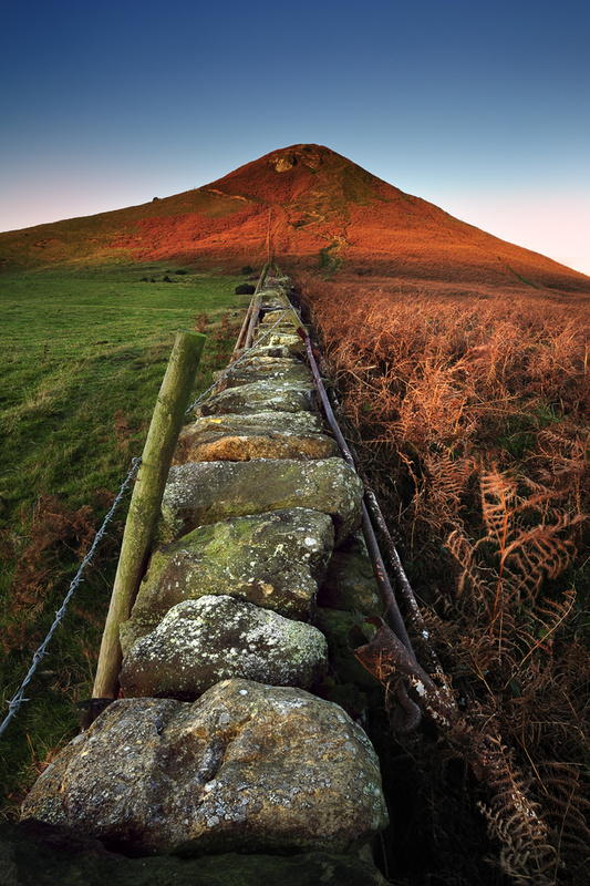Roseberry Topping - Along the wall. - Roseberry Topping