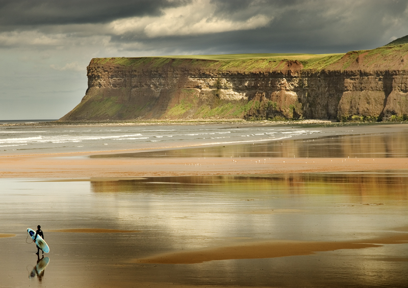 Heading for the surf - Saltburn By The Sea