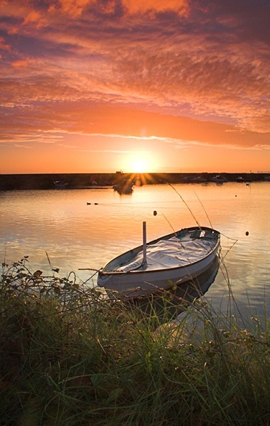 Boat at Dawn - Landscape & Nature