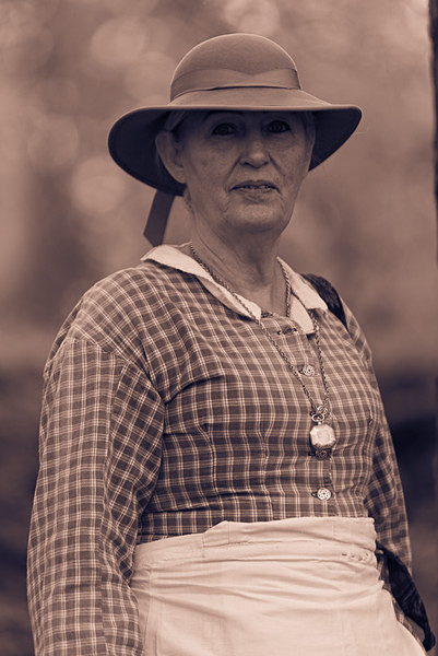 American Civil War Lady - Historical Re-enactment