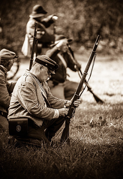 Confederate Infantryman - Historical Re-enactment