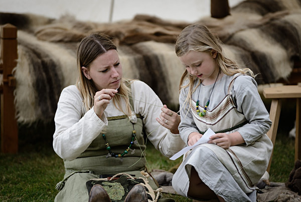 Mother and Daughter - Historical Re-enactment
