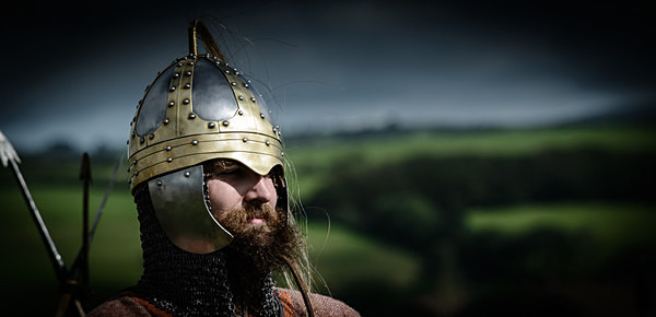 Early Saxon Warrior - Historical Re-enactment