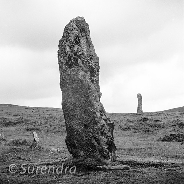Menhirs Drizzelcombe Dartmoor UK - Dartmoor