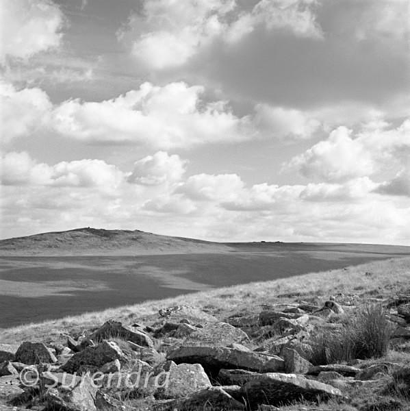 Steeperton Tor from East Mill Tor Dartmoor UK - Dartmoor