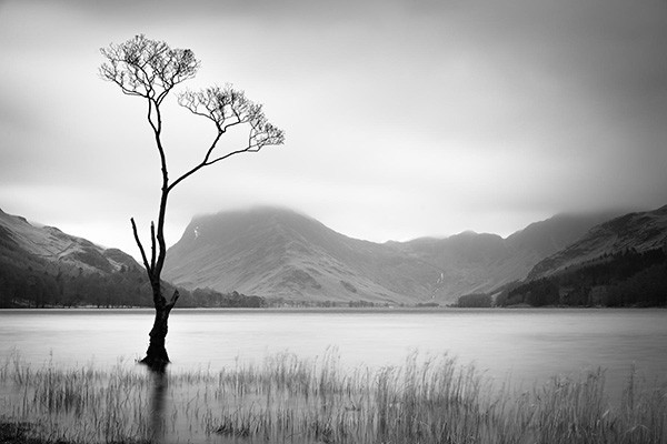 Solitude - in mono - The Lake District