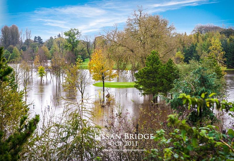 Lissan Bridge flood - Omagh Golf Course