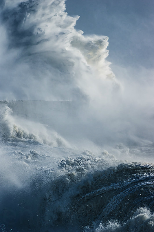 Huge waves caused by Storm Imogen, East Sussex.