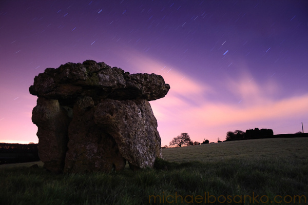standing stones under moonlight - Night Visions