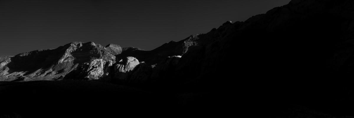 First Rays of Light - Fine Art Black & White Panoramic 3:1 Ratio