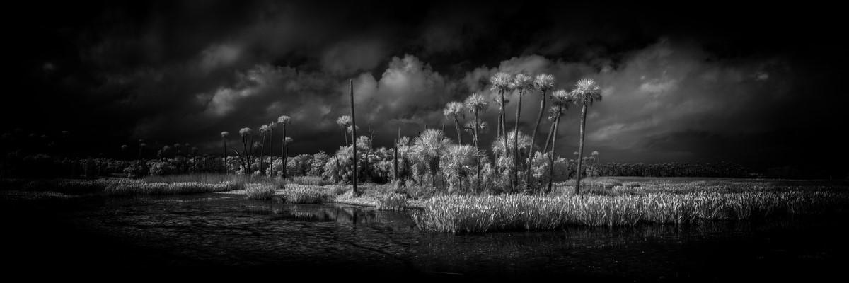 Edge of the Storm - Fine Art Black & White Panoramic 3:1 Ratio