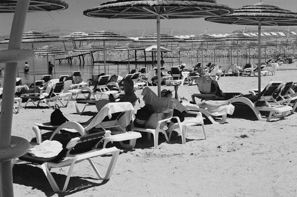 Dead Sea Sun Bathers - People
