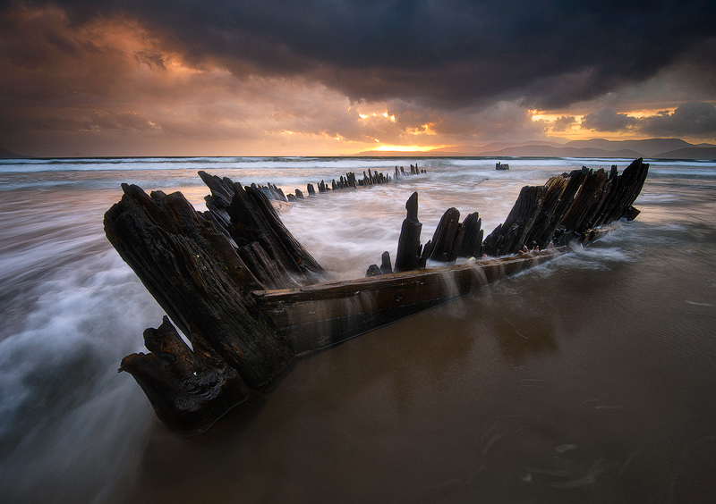 Wreck of the Sunbeam, Rossbeigh, Co. Kerry